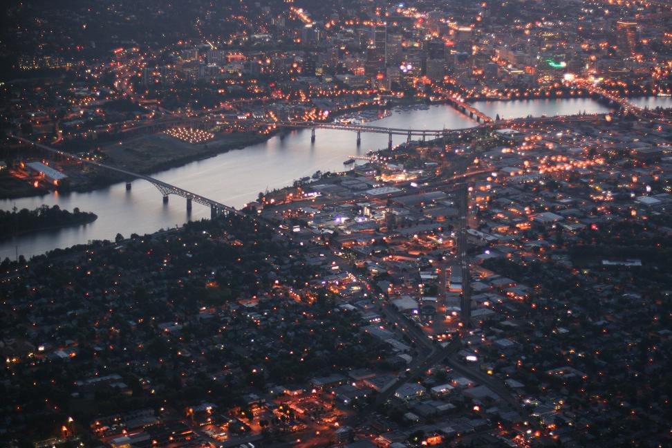 Downtown Portland at Sunset